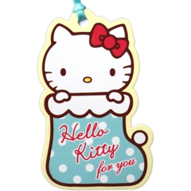 Hello Kitty Stocking gift tag/mini kaart