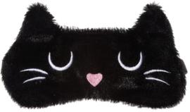 Zwarte kat slaapmasker
