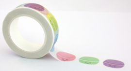 Washi tape colorful macarons