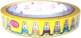 Deco tape medium Long Sleeved Bunnies
