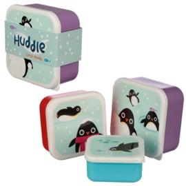 Lunchboxen set | Pinguïns