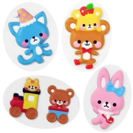 Puffy stickers Bear Smile