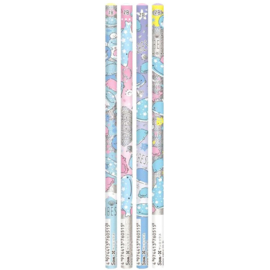 Jinbesan Pearl Dolphins 2B pencils | set of 4