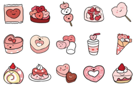 Yumminess stickers | 45 pieces
