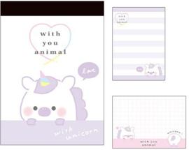 Small memo pad With you animal | Unicorn