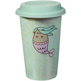 Pusheen Mermaid travel mug