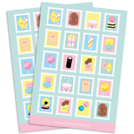 Stickers kawaii stamps