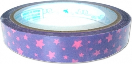 Deco tape medium Pink Stars