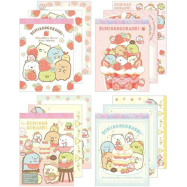 Sumikko Cafe Strawberry Fair memo pads | set of 4
