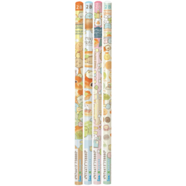 Sumikko Bread School 2B pencils - choose your favorite