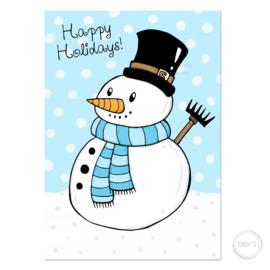 Kerstkaart Snowman