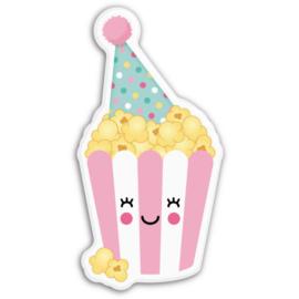 Magneet kawaii feest popcorn