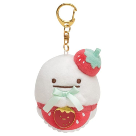 Sumikko Cafe Strawberry Fair keychain | Obake