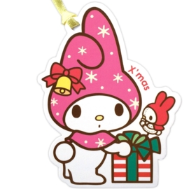 My Melody X'mas gift tag/mini kaart