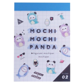 Memoblok klein Mochi Mochi Panda Kigurumi Mochipan