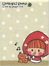 Memoblok klein Kamio Little Girl Story