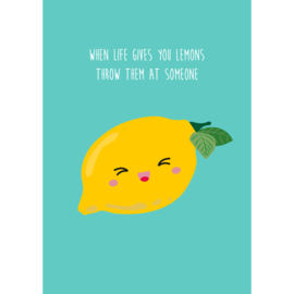 Postcard when life gives you lemons