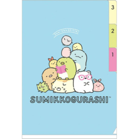 A6 file folder Sumikkogurashi Blue