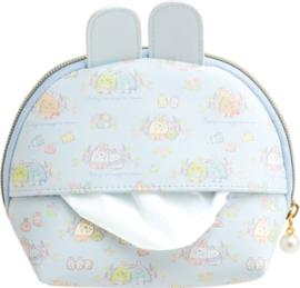 Sumikkogurashi Mysterious Rabbit pouch with tissue pocket