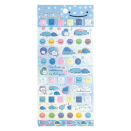 PVC stickers Jinbesan Face blue