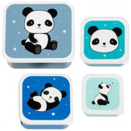 Lunch- en snackboxen set | Panda's