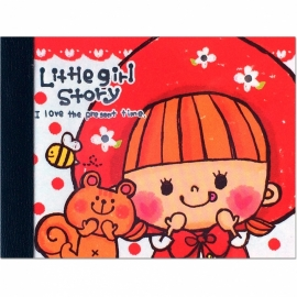 Memoblok klein Kamio Little Girl Story