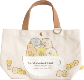 Canvas bag Sumikkogurashi Shirokuma's Corn Soup