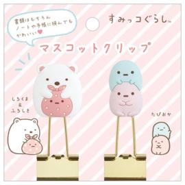 Double clips Shirokuma & Tapioca