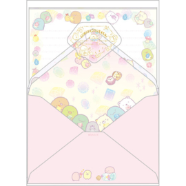 Letter set Sumikkogurashi Mogura's Home diamonds