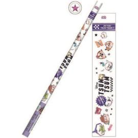 B pencil Tsum Tsum | stars