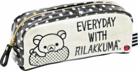Pen pouch San-X Monochrome Rilakkuma