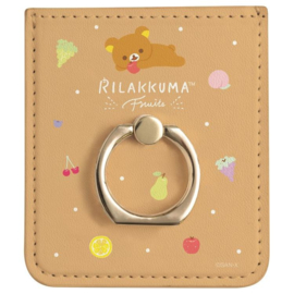 Rilakkuma Fruits smartphone ring & pass case