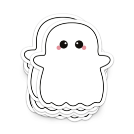 XL vinyl sticker | ghost