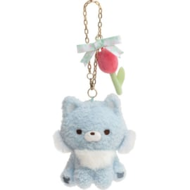 Chairoikoguma's Friends plush hanger | Blue Wolf