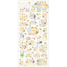 Stickers Kokoro Araiguma Enjoy Tea at Home