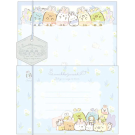 Briefpapier set Sumikkogurashi Mysterious Rabbit