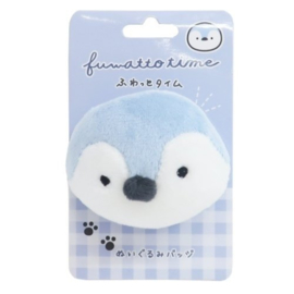 Penguin plushie with safety pin