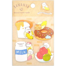 Sticky notes Bananya food