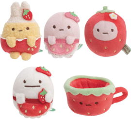 Sumikko Cafe Strawberry Fair Minikkoman tenori plush - kies jouw favoriet