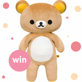 Hug a Bear Day - Win jouw eigen Rilakkuma knuffelbeer