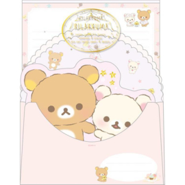 Rilakkuma Pajama Party briefpapier set