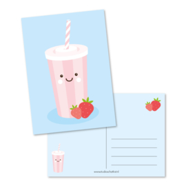 Postcard strawberry milkshake