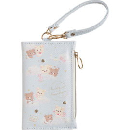 Korilakkuma & Chairoikoguma Fluffy Angel pass case