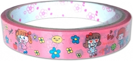 Deco tape medium Pink Love
