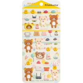 Puffy stickers Rilakkuma yellow