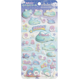 Puffy stickers Jinbesan Starry Sky Penguins
