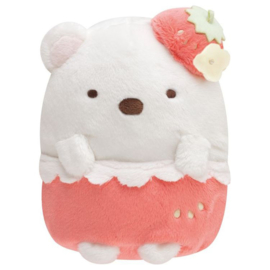 Sumikko Cafe Strawberry Fair knuffel | Shirokuma