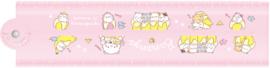 Bananya ruler 30 cm pink