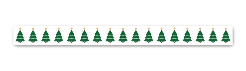 Washi tape kerstbomen