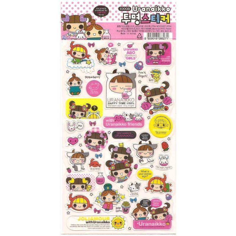 Sticker sheet Uranaikko pink 2